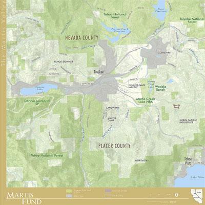 Martis Valley Regional Map